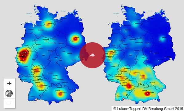 Postleitzahlenkarte De Die Deutsche Plz Karte Digital