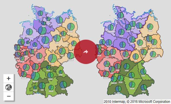 Vertriebsgebiete optimieren - Interaktive Karte